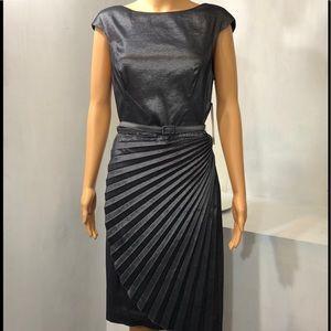 London Times silver gray evening dress size 10